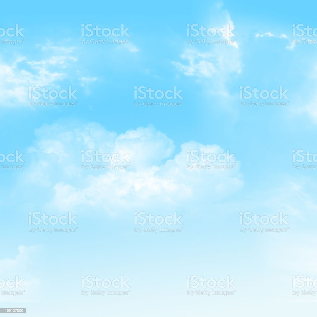 The blue sky and cloudy stock photo