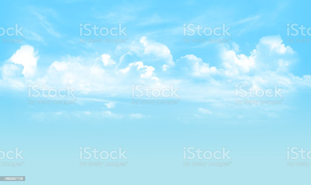 The blue sky and cloudy royalty-free stock photo
