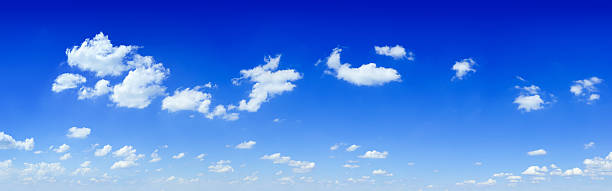 The blue sky and white clouds stock photo
