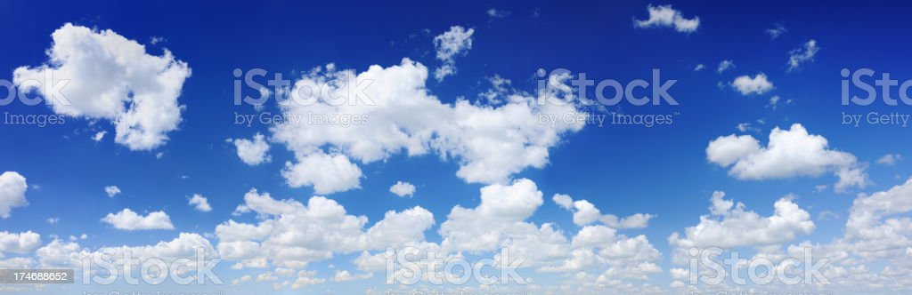 The blue sky and white clouds, SCROLL DOWN for more royalty-free stock photo