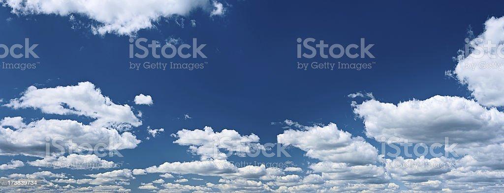 The blue sky panorama 28MPix XXXL royalty-free stock photo