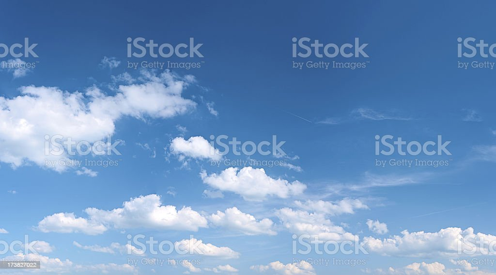 The blue sky panorama 43MPix - XXXXL size stock photo