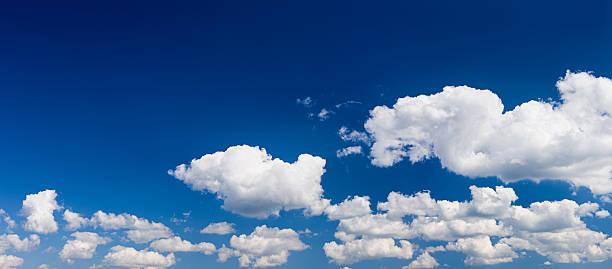 The blue sky panorama 67MPix XXXXL size stock photo
