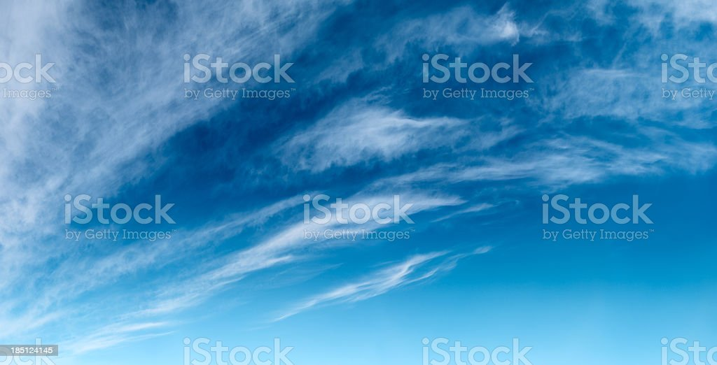 The blue sky panoramic view 110MPix XXXXL royalty-free stock photo