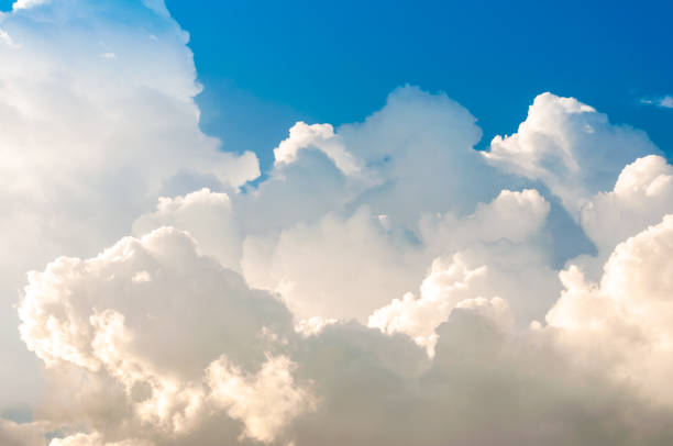 the blue sky with white clouds - clouds stock pictures, royalty-free photos & images