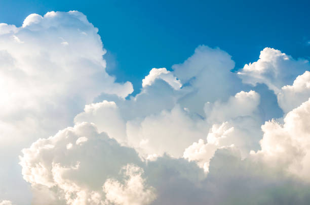 The blue sky with white clouds stock photo