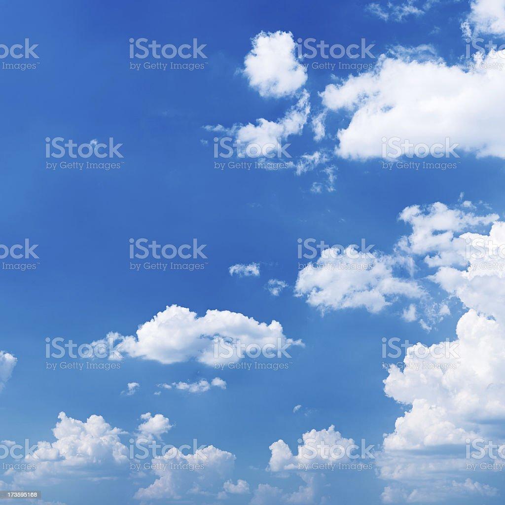 The blue sky  XXXXL size 57MPix royalty-free stock photo