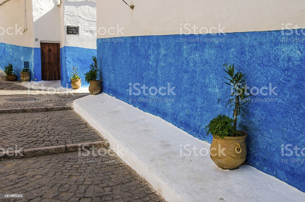 The blue street stock photo