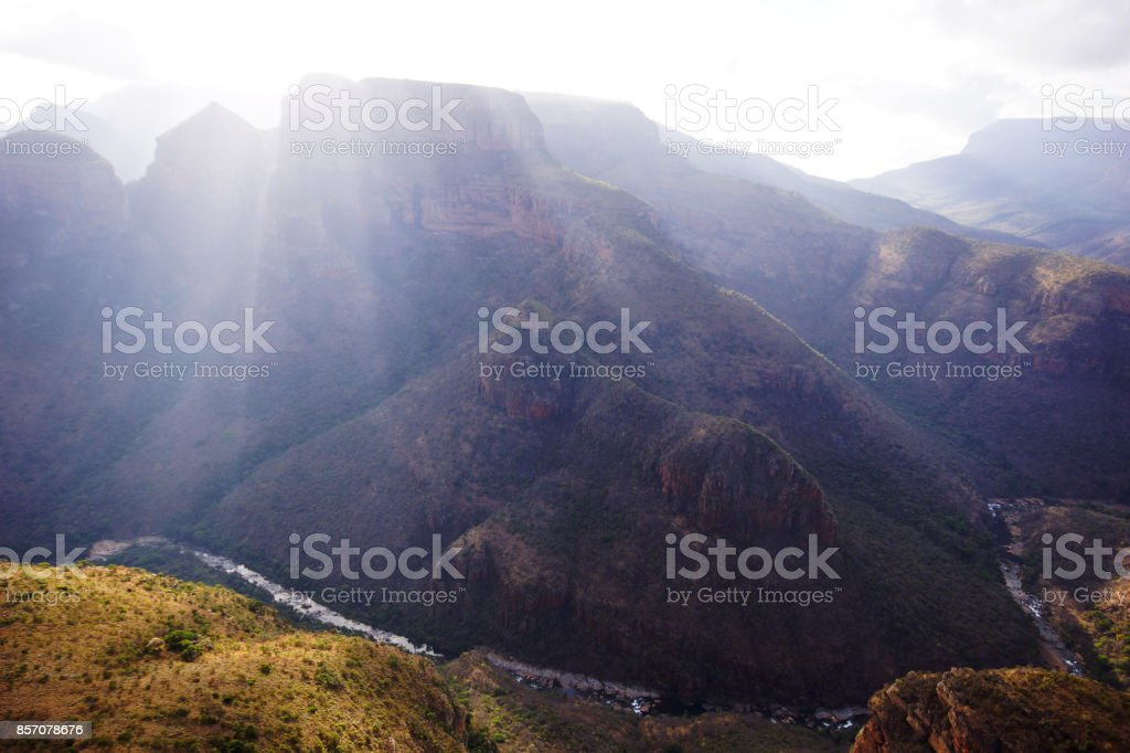 The Blyde river canyon stock photo