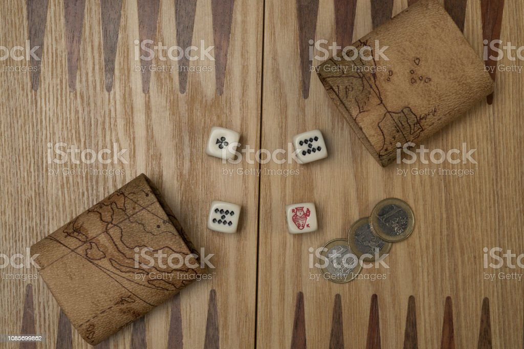 The board game dices. Board game concept with cubes