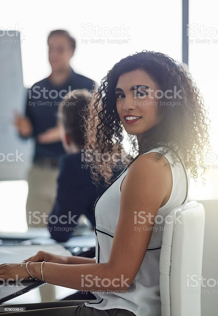 The boardroom is my domain stock photo