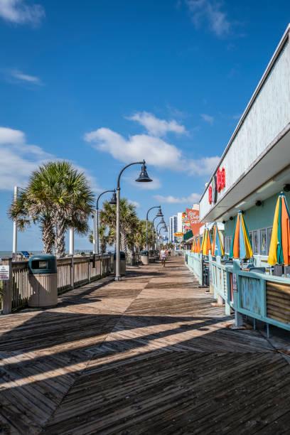 The Boardwalk at Myrtle Beach stock photo