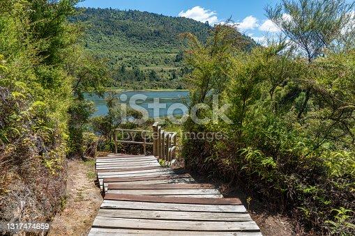 istock The Boardwalk of Orakei Korako Geothermal Park & Cave at Hidden Valley, Taupo, New Zealand 1317474659