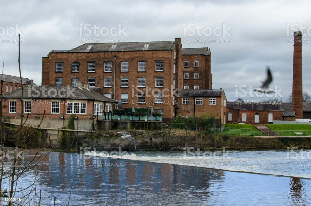 The Boar's Head Cotton Mills in Derby, Derbyshire, England, UK stock photo