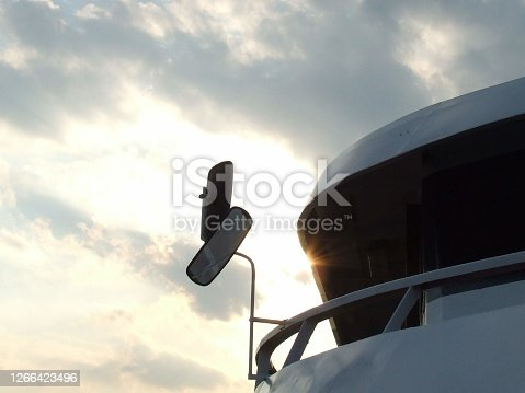 The boat at sunset. High quality photo