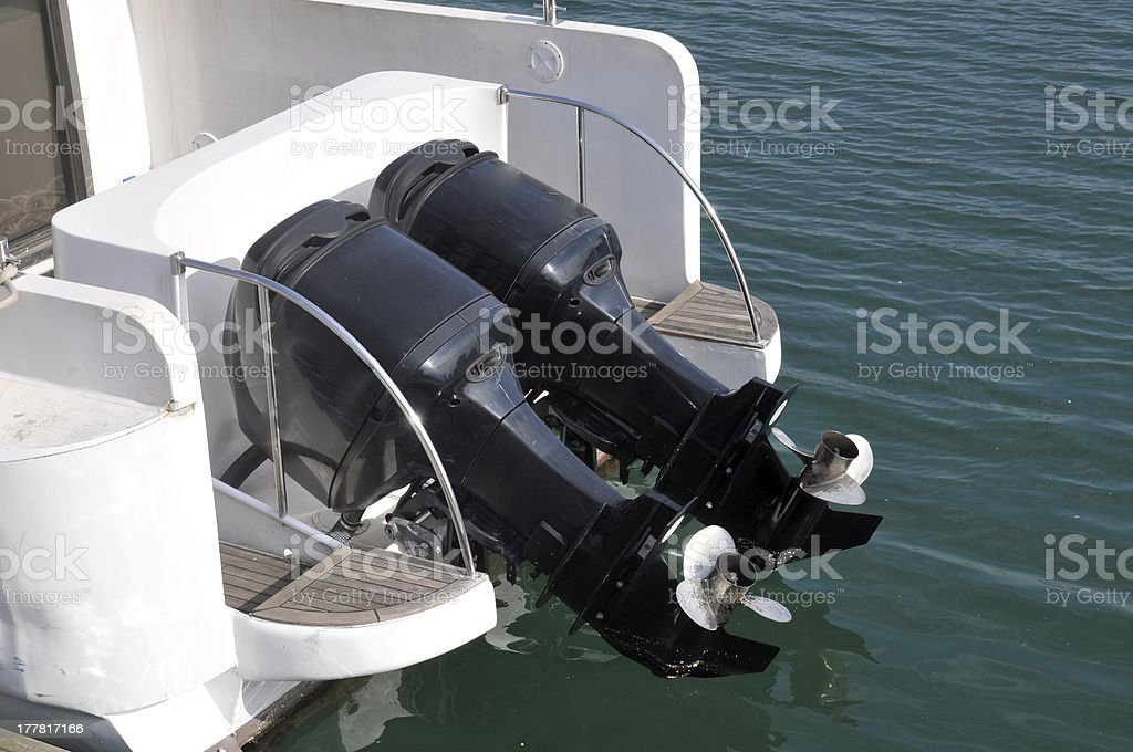The boat engine royalty-free stock photo