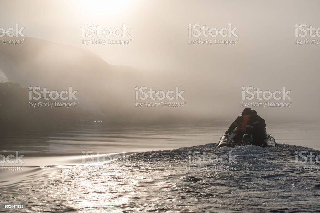 The Boat In The Cold Waters Stock Photo & More Pictures of