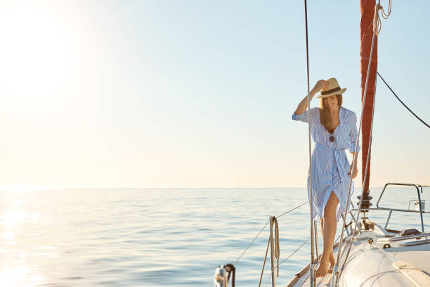 the boat life aka the good life - affluent lifestyle stock pictures, royalty-free photos & images