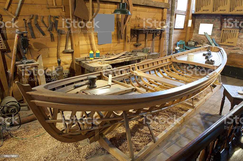 The Boat-Building Workshop royalty-free stock photo