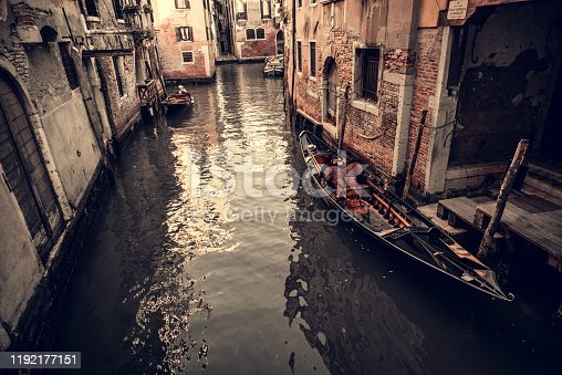 The Boats Of Venetian Canal Alleyways