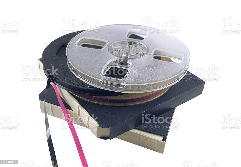 The bobbin tape recorder royalty-free stock photo
