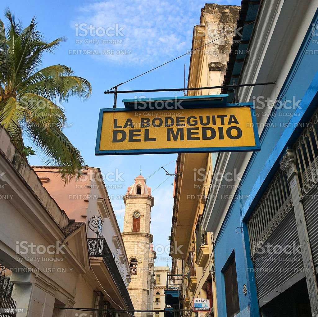 La Bodeguita del Medio stock photo