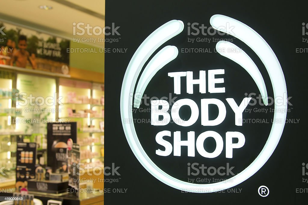 The Body Shop Store Front stock photo