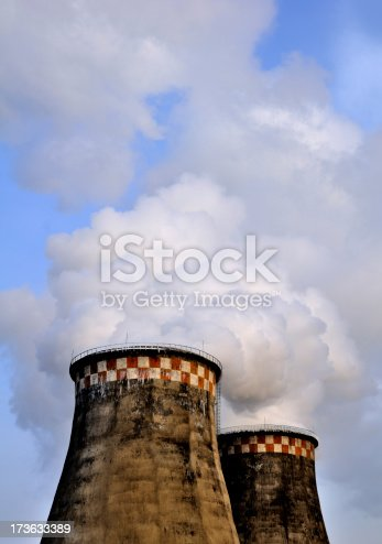 istock The boiler's smoking pipes 173633389