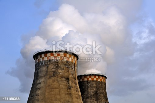 istock The boiler's smoking pipes 471158063