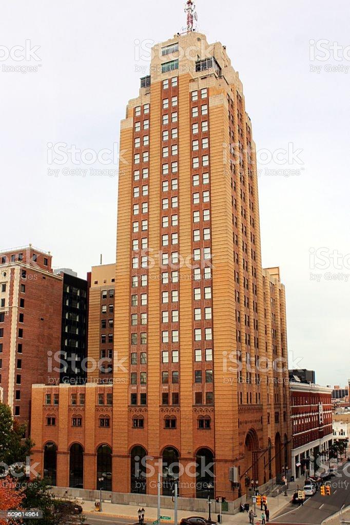 The Boji Tower, Lansing Michigan stock photo