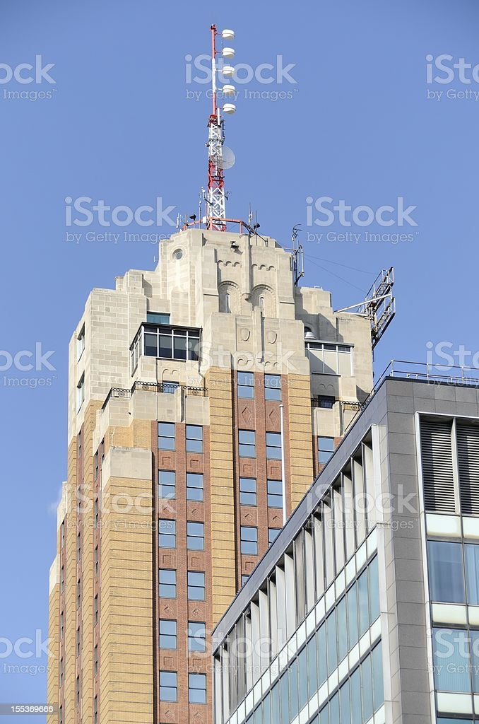 The Boji Tower, tallest building in Lansing, Michigan.  royalty-free stock photo