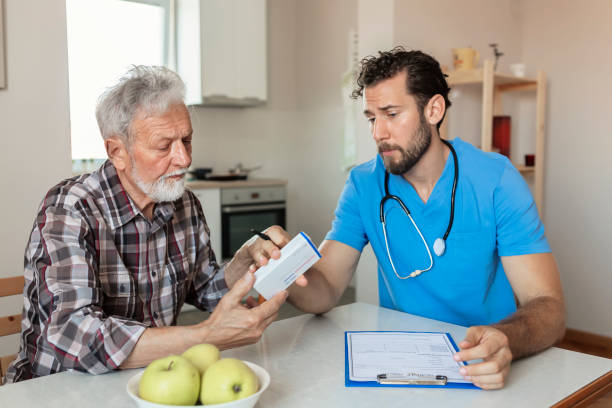 The bond between patient and practitioner stock photo