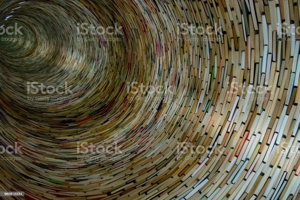 the book laid out a tunnel as well, background of the books - Royalty-free Above Stock Photo