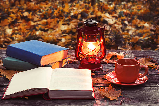 Old Red Oil Lantern Lit With A Glow Pictures Images And Stock Photos