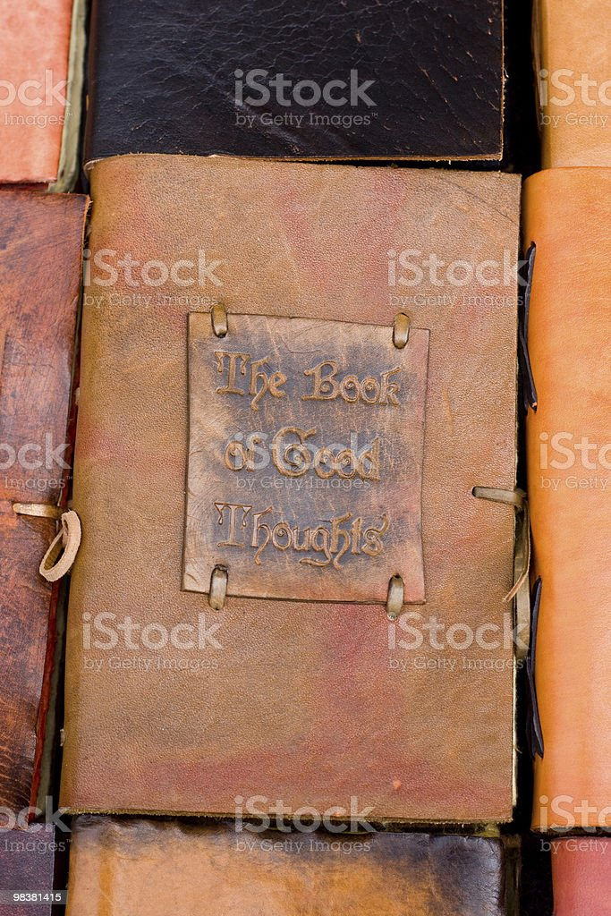 The book of good thoughts royalty-free stock photo