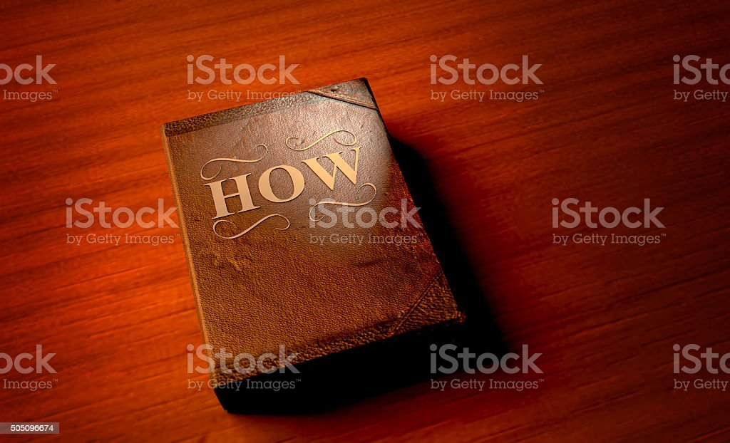 The Book of How stock photo
