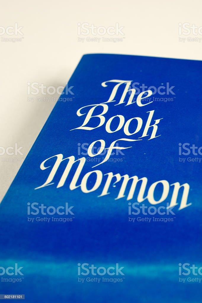 The Book of Mormon Cover stock photo