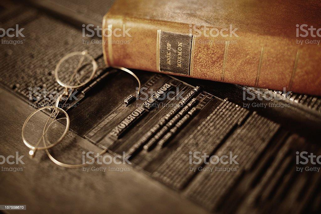 The Book of Mormon stock photo