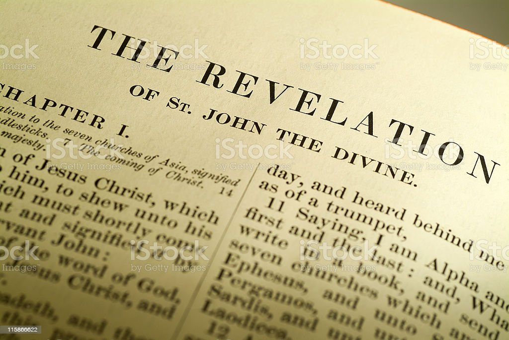The Book of Revelations stock photo