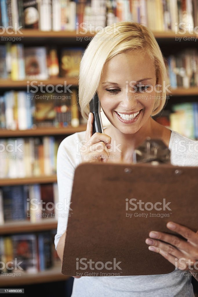 The book you ordered has just come in.... royalty-free stock photo