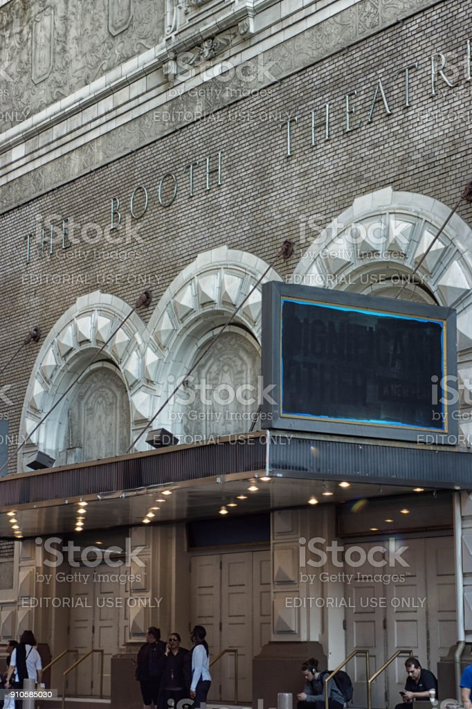 The Booth Theatre New York stock photo