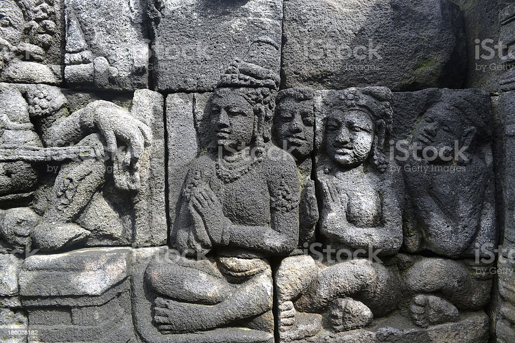 The Borobudur Relief stock photo