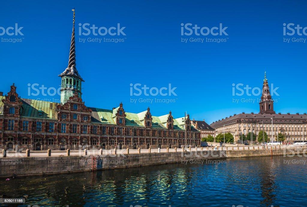The Borsen, Old Stock Exchange Building in Copenhagen, Denmark stock photo