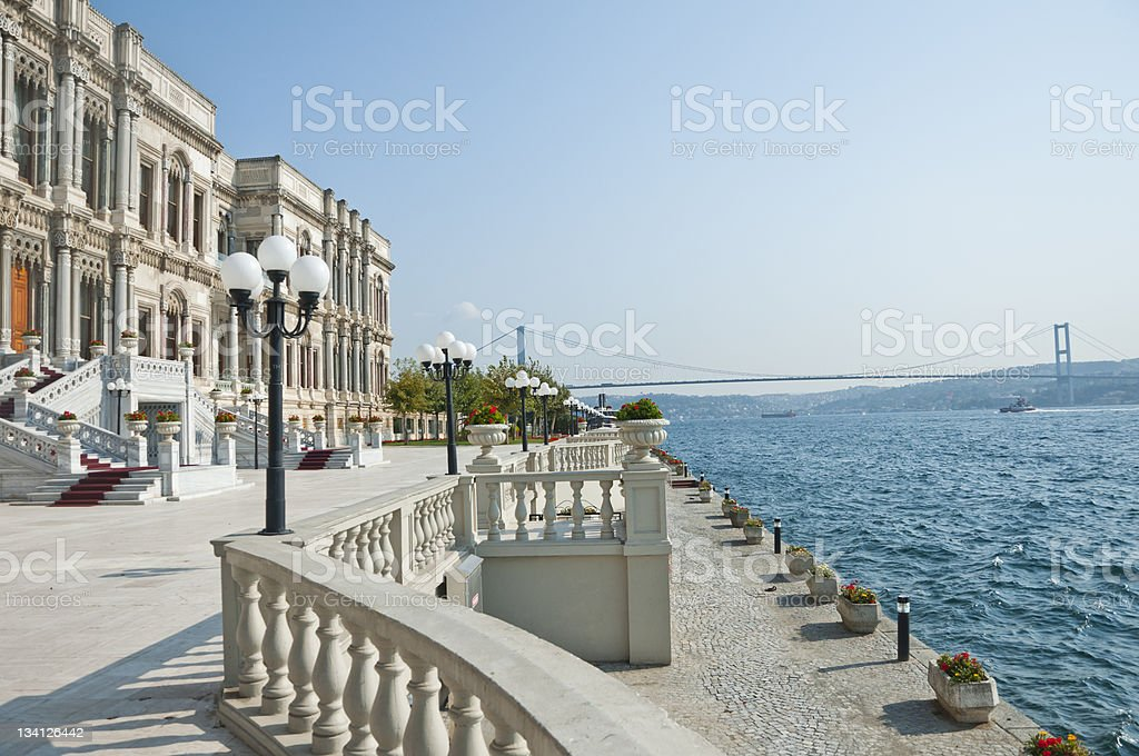 The Bosporus from Ciragan royalty-free stock photo
