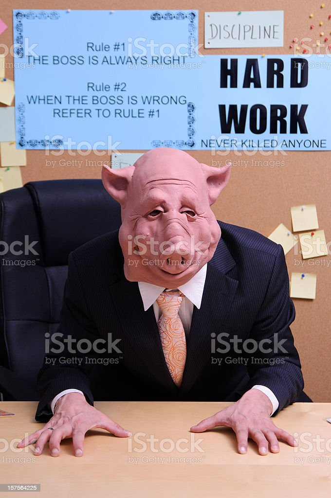 The boss is angry royalty-free stock photo