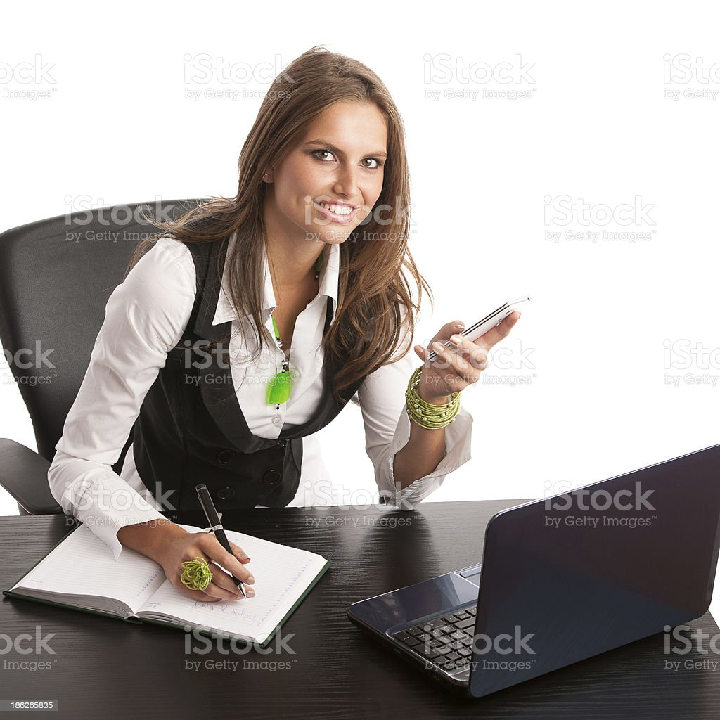 The boss - Preety business secretarry royalty-free stock photo