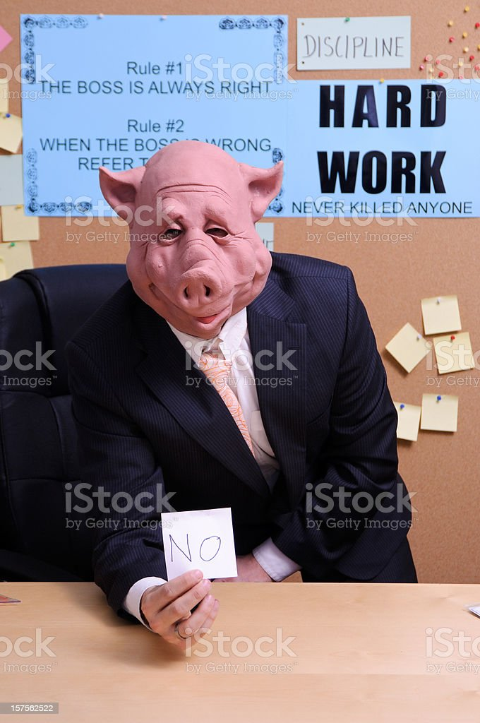 The boss says NO royalty-free stock photo