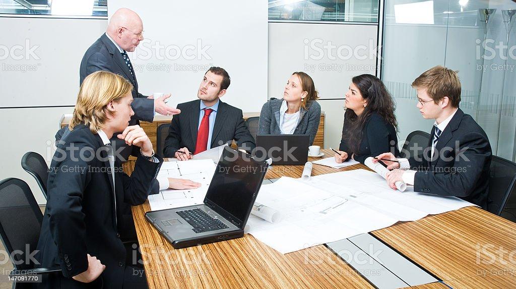The boss talks royalty-free stock photo