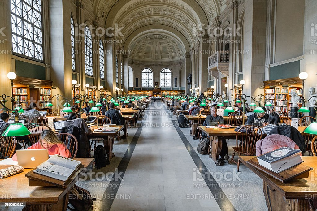 The Boston Public Library stock photo