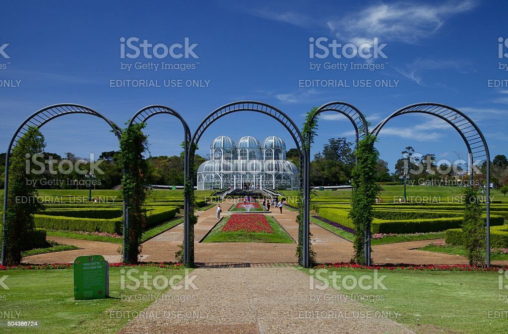 The Botanical Garden of Curitiba and its charms. stock photo